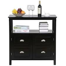 Dining Room Buffets Sideboards Amazon Com Topeakmart Black Gloss Buffet Sideboard Cabinet Table