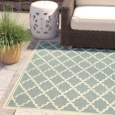 Turquoise Indoor Outdoor Rug Charlton Home Cardwell Port Light Turquoise Indoor Outdoor