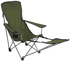 folding lounger portable camping recliner beach chair w footrest