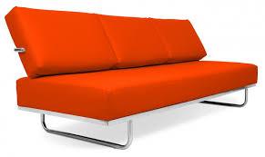 canapé lit en cuir canapé lit cuir orange inspiré lc5 le corbusier lestendances fr