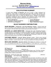 resume template district manager sample retail intended for