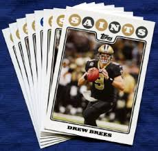 2008 topps new orleans saints nfl football cards team set