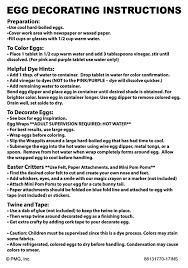 Easter Eggs Decoration Kit by Dudley U0027s Easter Egg Dye Kit Instructions Dudley U0027s Easter