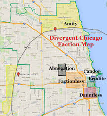 Chicago Map Of Usa by Divergent Chicago Faction Map Abnegation Amity Candor