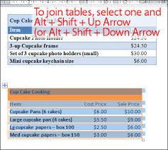 join two tables together in word projectwoman com