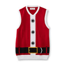 men u0027s ugly christmas sweater vest santa claus