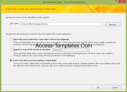 how to update access database from ms excel access database and
