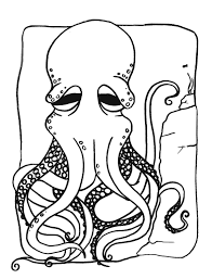 printing pages free printable octopus coloring pages for kids