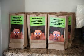 minecraft goody bags my world minecraft birthday party for christopher evan