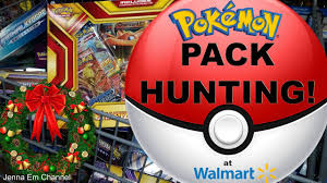 pokemon pack hunting u0026 christmas shopping at walmart jenna em