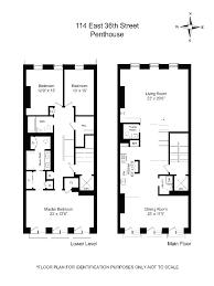 brownstone floor plans new york city floorplan of a new york brownstone penthouse apartment house