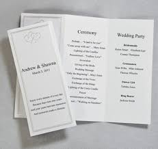 program paper platinum hearts tri fold program paper wedding programs tri fold