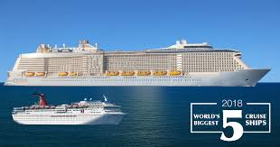 largest ship in the world 5 largest cruise ships in 2018 can you guess the world s biggest ship