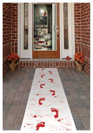 bloody footprints runner footprints doors and house