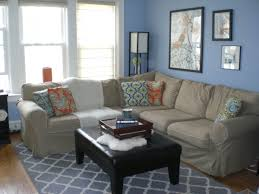 living room design with gray sofa displays comfort and luxury