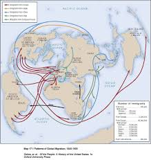 United States Map 1840 by Migratory Flows To The United States Maps And Line Graphs All