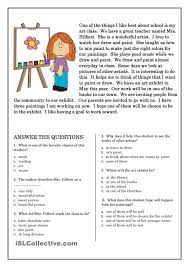reading comprehension for high students worksheets free