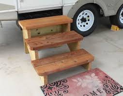 custom stairs free standing stairs designed for travel trailers