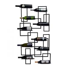 accessories beautiful mount wall black metal wine rack for