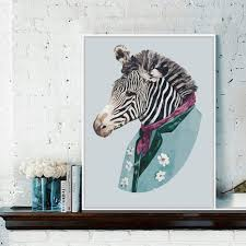 compare prices on zebra decorations for bedroom online shopping watercolor zebra canvas painting nordic minimalist triptych paintings home wall decor poster picture art living rooms