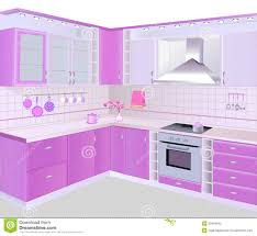 kitchen interior with pink furniture and tiles stock vector royalty free stock photo download kitchen interior with pink