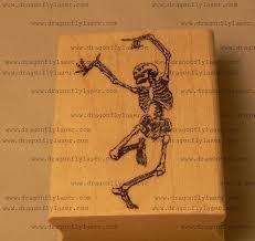 halloween stamp amazon com dancing skeleton rubber stamp halloween p39 arts