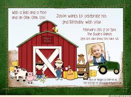 farm animal birthday barnyard invitation tractor boy