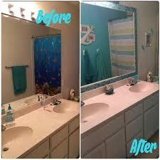 Framing Builder Grade Bathroom Mirror Best 25 Tile Mirror Frames Ideas On Pinterest Tile Mirror
