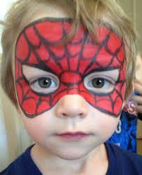 spider man mask face painting by jennifer vandyke face