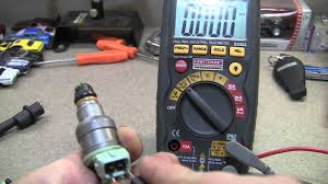 lexus is300 injectors using a multimeter to test fuel injector using resistance ohms