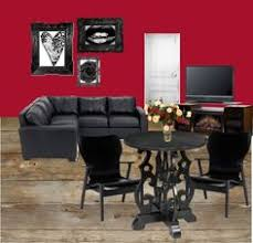 Red Living Room Sets by Red And Black Living Room Basement Pinterest Living Rooms