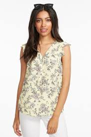 sleeveless ruffle blouse ruffle half zip sleeveless blouse mandee