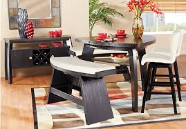 triangle high top table 5 piece miles counter height dining set with triangular table in for