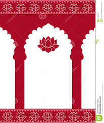 red indian gate background stock vector image 41983614