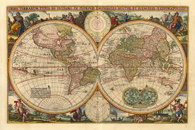 Large World Map Poster Large Vintage World Map Grahamdennis Me