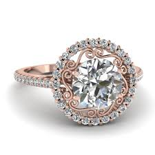 Gold Wedding Rings by Rose Gold Engagement Rings Fascinating Diamonds