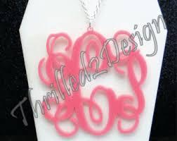 2 inch monogram necklace 2 inch monogram necklace etsy