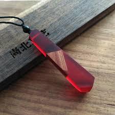 long red pendant necklace images 100 handmade vintage resin wood statement pendants necklace jpg