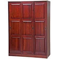 Armoire Solid Wood Amazon Com 100 Solid Wood 2 Sliding Door Wardrobe Armoire Closet
