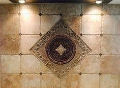 Kitchen Backsplash Water Jet Cut Tile Designs With Medallions - Medallion tile backsplash