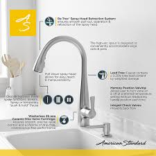 american standard pull out kitchen faucet american standard lillian single handle pull sprayer kitchen