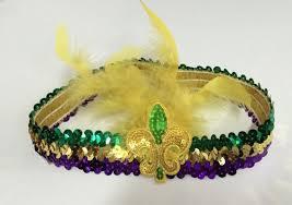 mardi gras headbands nola gifts decor mardi gras sequin stretch flapper headband