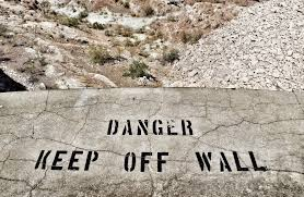 file painted sign on concrete wall at the hoover dam 28849021943