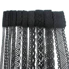 black lace ribbon lucia crafts 2yards lot black lace fabric trim ribbon diy garment