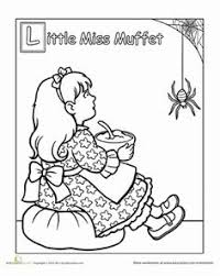 the itsy bitsy spider rhyme coloring page worksheets spider