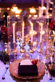 Pink And Gold Table Setting by Greek Orthodox Church Ceremony Glamorous Purple U0026 Gold Reception