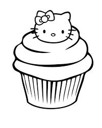 cupcake garnished head kitty coloring
