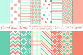 trendy coral n mint backgrounds patterns creative market