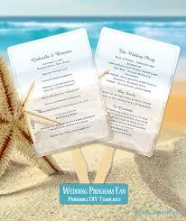 Beach Wedding Program Templates 47 Best Wedding Program Fans Diy Printable Templates Images On