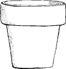 free flower pot template free word art papercraft memories